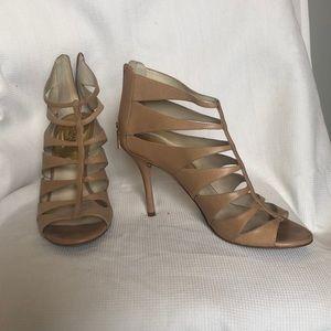 Michael Kors nude caged heels